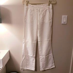 Roxy Linen Cotton Blend Wide Leg Pants